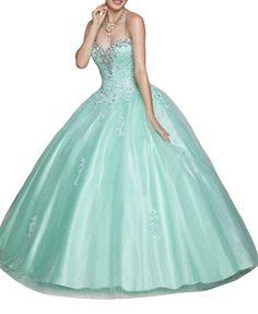 HSDJ Girls Princess Ruffle Ball Gowns Beads Sweet 15 Quinceanera Dresses 6 US Turquoise HSDJ http://www.amazon.com/dp/B01779H64E/ref=cm_sw_r_pi_dp_svgNwb10MKZNH