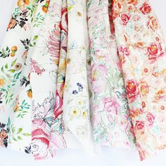 Kristy is offering a limited selection of her favorite floral patterns in fabric yardage featuring her Fruits and Blooms artwork.  A tangle of leaves, vines,...