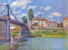 빌뇌브 라 가렌느의 다리  알프레드 시슬레(Alfred Sisley)