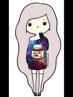 Girl With Nutella shirt Chibi