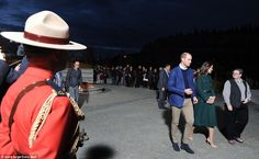 The centre is located on the banks of the Yukon River at Whitehorse, Yukon Territory, and the site was teaming with people eager to great the royal couple