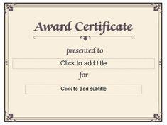 Blank certificate award   Preschool   Pinterest   Blank certificate