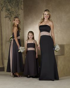 Strapless A-line Satin Bridesmaid Dresses