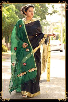 2 pallu sarees! Antara, Fashion Studio, Sarees, How To Make, How To Wear, Women Wear, Indian, Elegant, Clothing