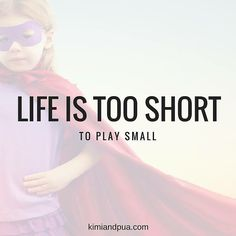 Your playing small does not serve the world. How are you going to PLAY BIG today? :-) #thinkbigger #theworldneedsyourlight #playbig #bestlifeever