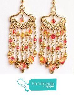 Handmade Chandelier, Chandelier Earrings, Red Gold, Amazon, Jewelry, Amazons, Jewlery, Riding Habit, Jewerly