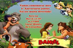 Convite digital personalizado da Disney 002