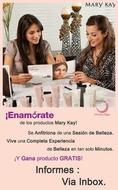Se anfitriona de una Sesión de Belleza Mary Kay, obtendrás grandes beneficios. contáctame www.marykay.com/rdelavina