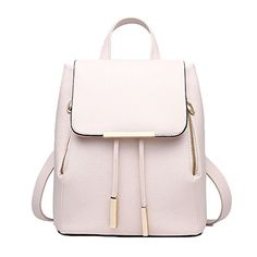 Catkit Casual Preppy Style Womens Tote Handbag Girls School Shoulder Bag Backpack Beige * ON SALE Check it Out