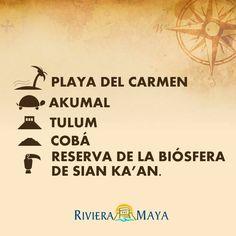 Top 5 de lugares que no te puedes perder en tu visita a la #RivieraMaya.