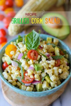 Salad Recipes : Grilled Corn Salad