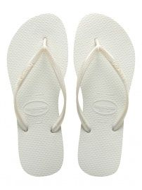 b7eff0cd3fb00 Havaianas Womens Hav Slim White Rubber Flip Flops UK BR  The newest of  Brazil s original and authentic flip-flops designed especially for the  women out ...