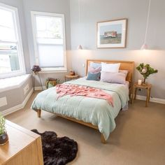 The Block NZ is back and this season its all about Villa Wars with four teams… Bedroom Carpet, Home Bedroom, Bedroom Ideas, Master Bedroom, Freedom Furniture, Home Furniture, The Block Room Reveals, The Block Nz, Cute Room Ideas