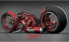 Indian Gorilla V4 Motorcycle by Vasilatos Ianis