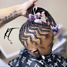 Braided Cornrow Hairstyles, Little Girl Braid Hairstyles, Black Kids Hairstyles, Little Girl Braids, Baby Girl Hairstyles, Black Girl Braids, Braids For Kids, Braids For Black Hair, Girls Braids