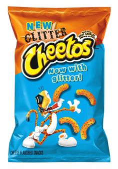 Glitter Cheetos! My worst nightmare.