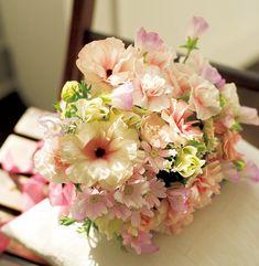 春ならではの透けるようなピンクが新鮮