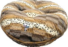 BESSIE AND BARNIE 36Inch Bagel Bed for Pets Medium Wild Kingdom * More info could be found at the image url.(This is an Amazon affiliate link and I receive a commission for the sales)