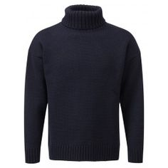 Generic Mens Fashion Turtleneck Solid Color Custom Fit Knitted Pullover Sweaters