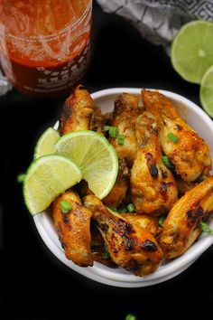 Baked Sriracha Lime Chicken Wings - made with sriracha and fresh lime ...