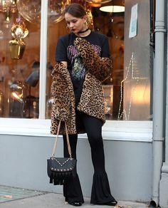 Get this look: http://lb.nu/look/8475495  More looks by Dominique Malinowska: http://lb.nu/dmalinowska  Items in this look:  Zara Leopard Coat, Missguided Guns N Roses T Shirt, Skinny Dip Bag, Zara Leggings Bell Ends   #edgy #grunge #street #zara #bandtee #gunsnroses #leopard #pattern
