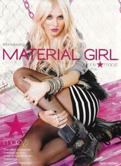 Madonna Material Girl Wallpaper | ... is The Face of Madonna Material Girl Fashion Line | all about Madonna