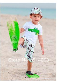 Summer kids clothing sets children crocodile suits,hats t shirts shorts 3pcs sets for boys 5pcs/lot mix full size free shipping