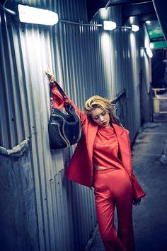 Yubin – Cocomojo x InStyle photoshoot 2016 Wonder Girl Kpop, Yubin Wonder Girl, Latest Pics, Peplum Dress, Duster Coat, Leather Pants, Photoshoot, Jackets, Dresses