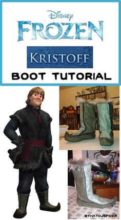 "#TipTuesday Kristoff's Boots (Disney) Today's Tip is actually a tutorial! I recently finished a 2nd commission for Kristoff from Disney's ""Frozen"" - pants, shirt, tunic, belt, hat, mittens and boots…a..."