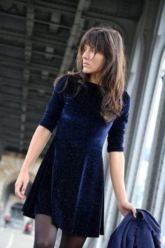 Velvet dress / Lecanardivre.fr
