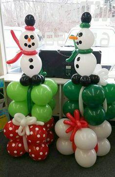 Christmas balloon decorations ideas balloon snowman and gifts creative ideas for balloon art fun holiday decorations . Balloon Centerpieces, Balloon Decorations, Balloon Ideas, Christmas Balloons, Christmas Crafts, Christmas Decorations, Colourful Balloons, Partys, Fun Diy