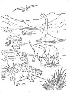 Meat Eater Dinosaur Coloring Pages