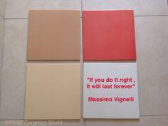 """""""Si lo haces bien, durara toda la vida"""" Massimo Vignelli diseñador grafico #tiles #spainceramicsworld"""