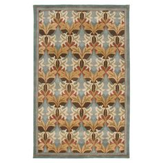 Adorned with a multicolored arrangement of classic-style leaves, this hand-tufted wool rug offers an inviting foundation for transitional decor....