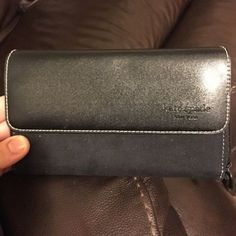 Authentic Kate spade black wallet large size Almost like new very light sign of use authentic kate spade Bags Wallets