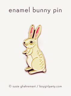 White Rabbit Enamel Pin by boygirlparty: http://shop.boygirlparty.com/products/bunny-pin-rabbit-pin-bunny-enamel-pin-by-boygirlparty?variant=19146643527 #pingame