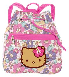Store all your important items in this Hello Kitty Backpack! This cotton canvas drawstring backpack features Hello Kitty with a beautiful golden tan i Hello Kitty Clothes, Hello Kitty Bag, Sanrio Hello Kitty, Large Electric Fireplace, Hello Kitty Backpacks, Gyaru, Toddler Outfits, Aesthetic Pictures, Purses And Bags