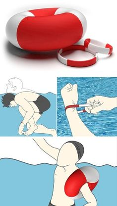 Everyone including professionals might find himself in emergency situation under water somehow, what's better than wearing a life ring on wrist? Once you pull the bracelet when you are in danger, the slim bracelet will rapidly expand to a life ring to keep you afloat. This product is still a concept, but we definitely hope it will launch asap. more info on red dot online