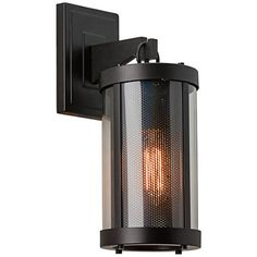 "Feiss Bluffton 16"" High Bronze Outdoor Wall Light- $204"