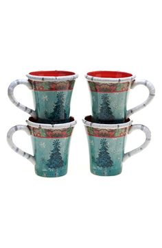 Tracy Porter® For Poetic Wanderlust® 'Folklore Holiday' Mugs (Set of 4) available at #Nordstrom