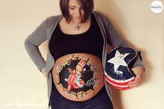 Body painting para embarazadas a domiciio con sesión de fotos de La que pinta Barcelona, el mejor regalo para una embarazada.