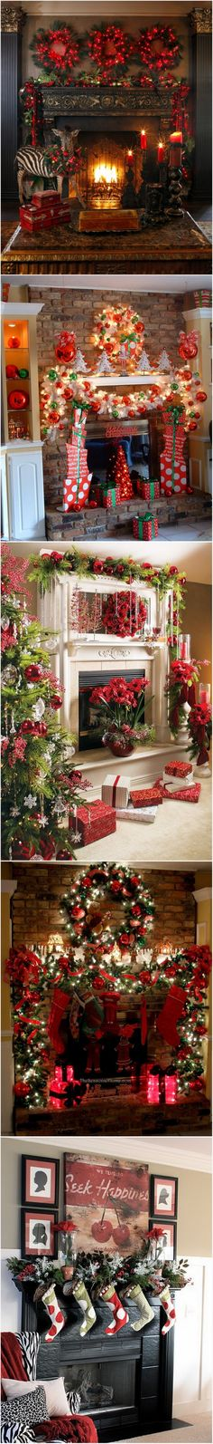 Gorgeously decorated Christmas Mantel inspiration