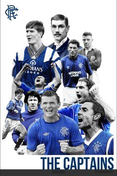 Rangers - The Captains. Rangers Football, Rangers Fc, Football Soccer, Soccer Teams, Basketball, Glasgow, Old Firm, Best Club, Football Pictures