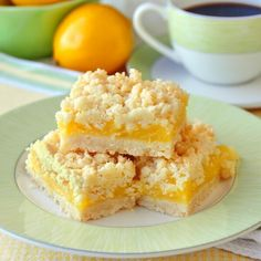Coconut Lemon Crumble Bars - a 35+ year old family recipe that combines coconut & tangy lemon filling in a buttery crumble bar cookie. They freeze well too.