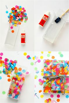 Pack gifts nicely - NO tape! - Hair Beauty - Food and Drink - Christmas - DIY and Crafts - Home Decor Creative Gift Wrapping, Wrapping Ideas, Creative Gifts, Homemade Gifts, Diy Gifts, Diy Confetti, Gift Wraping, Pretty Packaging, Christmas Gift Wrapping