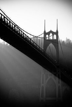 Gorgeous St. John's Bridge.  Mountain views heading east, forest views heading west and always beautiful views of the city