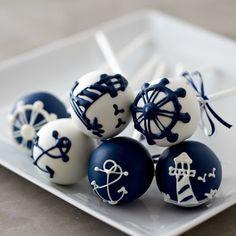 Sweet Lauren Cakes Nautical Summer Cake Pops! follow us: wallao.com
