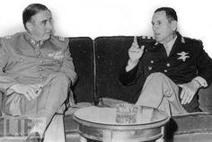 Generales Pinochet y Perón (1974).