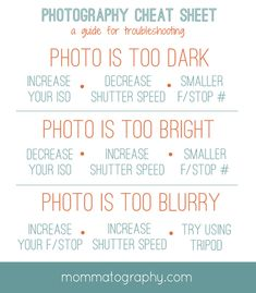 mommatography Free Printable Photography Cheat Sheet for Troubleshooting – www.mommatography… More from my siteBlende & Zeitautomatik erklärt Fotografie Cheat Sheet Blende und Zeitautomatik AVMore cheat sheets!A Beginners Guide to Manual Photography Photography Cheat Sheets, Dslr Photography Tips, Photography Challenge, Photography Tips For Beginners, Photography Lessons, Free Photography, Photography Business, Photography Tutorials, Digital Photography