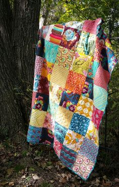 Color Block quilting - simple pattern and a great idea for a first time quilter.